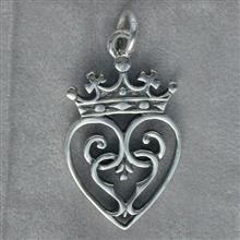 Queen Mary Silver Pendant