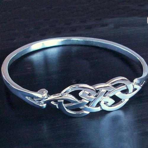 Wedding Bands Scotland >> Askernish Silver Bangle | Scottish Celtic Jewelry
