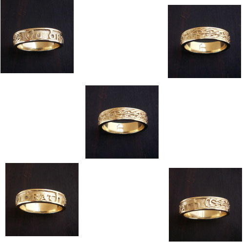 Gu Brath 9ct Gold Ring Scottish Celtic Jewelry