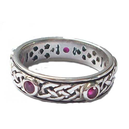 iona ring ruby scottish celtic jewelry