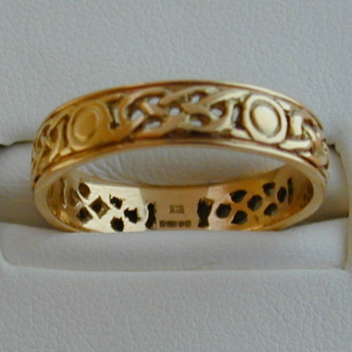 iona ring open 9ct gold scottish celtic jewelry